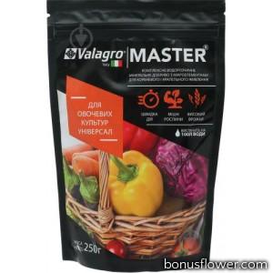 Удобрение Master для овощных культур, 250 г, Valagro