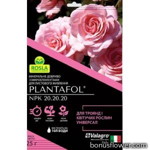 Удобрение Plantafol для роз и цветущих растений, 25 г, Valagro
