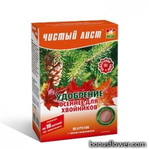 Удобрение «Чистый лист» осеннее для хвойных растений 300 г,  Kvitofor