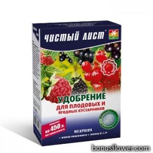 Удобрение «Чистый лист» для плодовых и ягодных кустарников 300 г,  Kvitofor