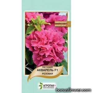 Петуния гибридная махровая Акварель, розовая F1