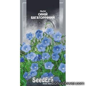 Лен синий