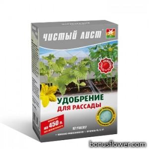 Удобрение «Чистый лист» для рассады 300 г,  Kvitofor